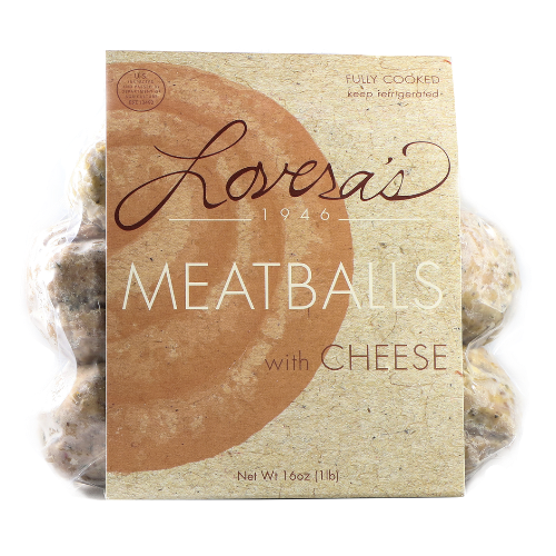 Meatballs w/ Cheese, 16oz