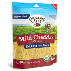 Organic Shredded Mild Cheddar, 6 oz