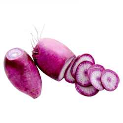 Organic Purple Daikon Radishes, 1lb