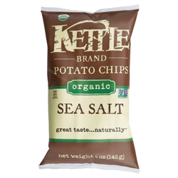Organic Sea Salt Kettle Chips, 5oz
