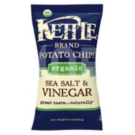 Organic Sea Salt & Vinegar Kettle Chips, 5oz