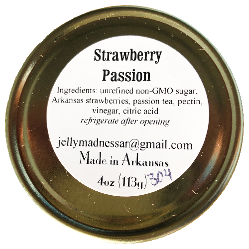 Strawberry Passion Jelly, 4oz