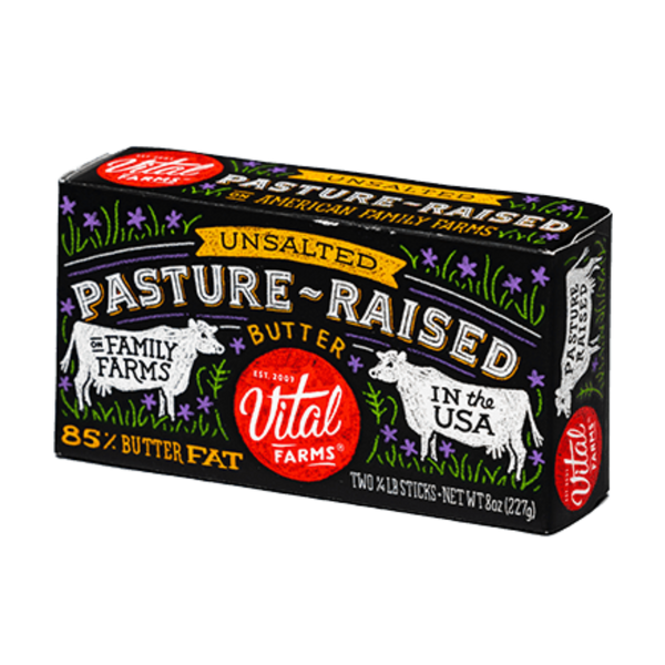 Pasture-Raised Unsalted Butter, 8oz