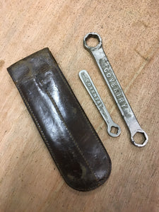 Original Lea & Francis tools and leather wallet.