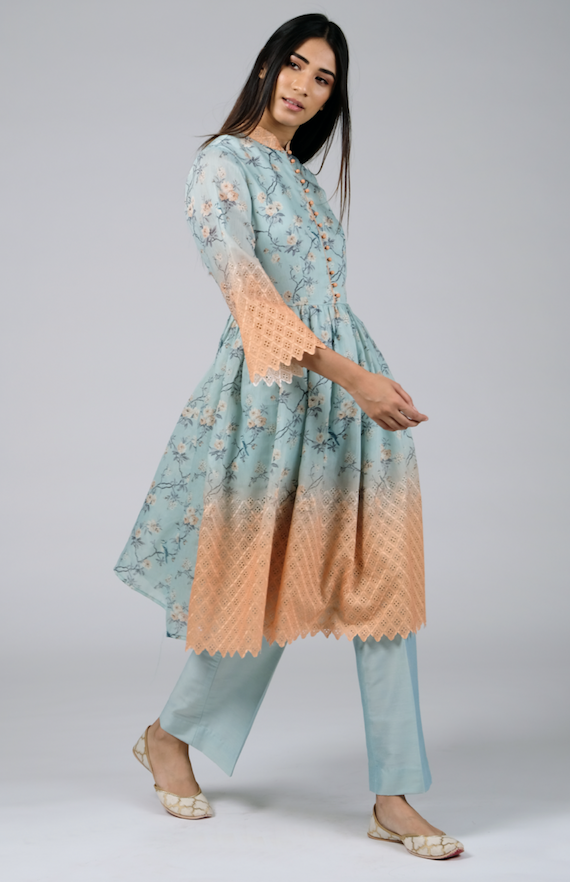 Fit and Flare Kurta with Pants