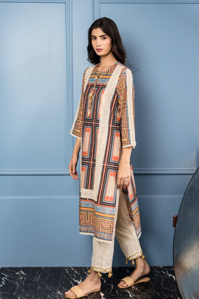 Labyrinth Kurta
