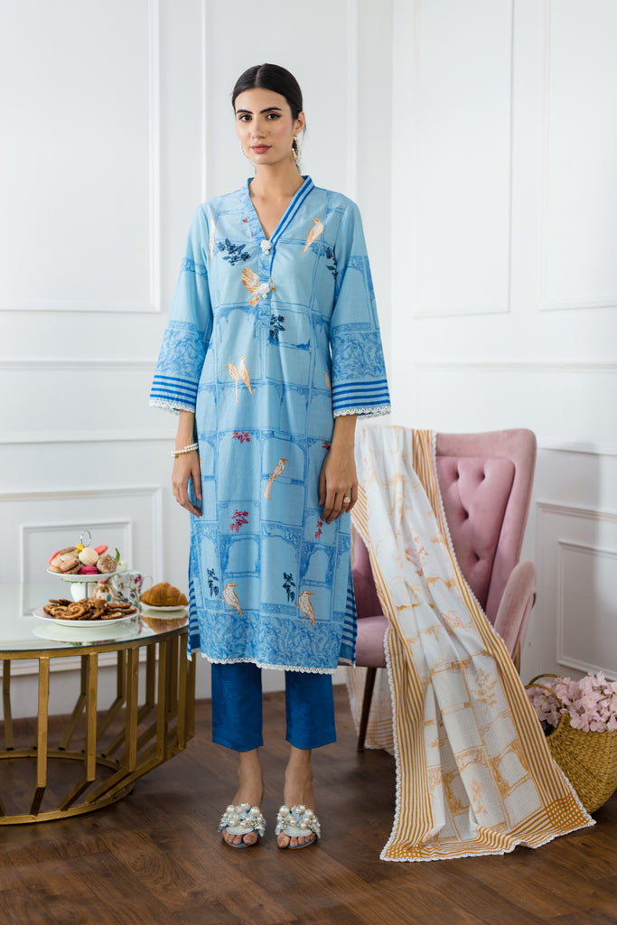 Soft Blue Kurta