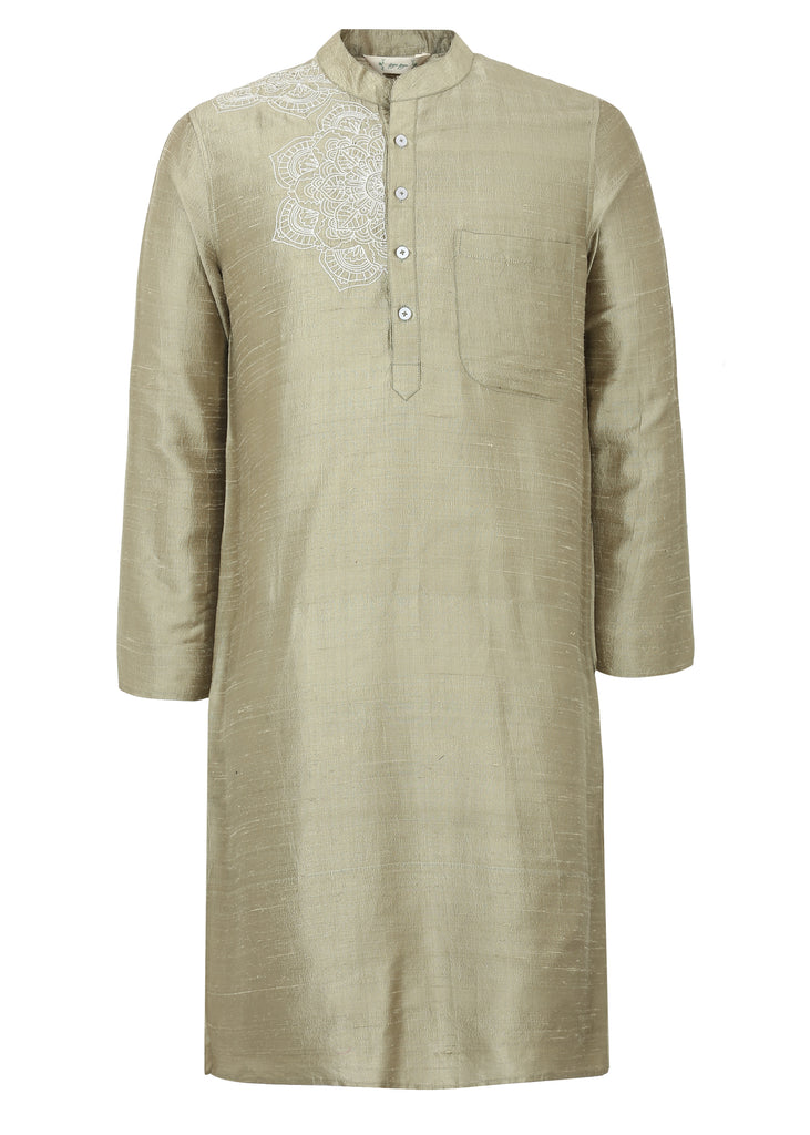 Gold Green Kurta