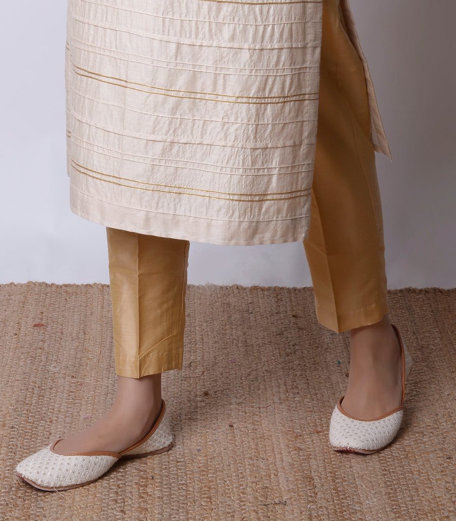 Gold Silk Modal Pants