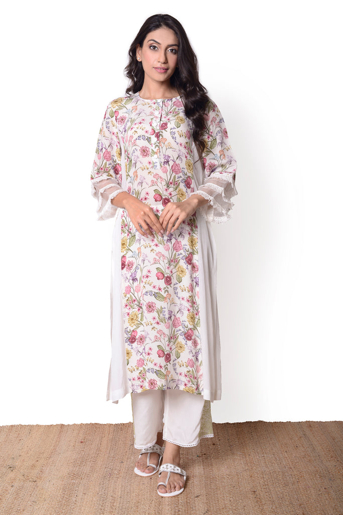 Chintz Ivory Kurta Set