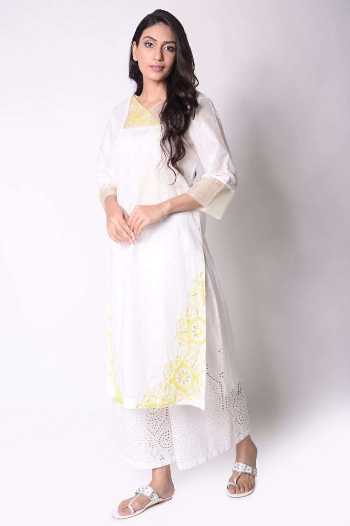 Lemons Embroidered Kurta Set