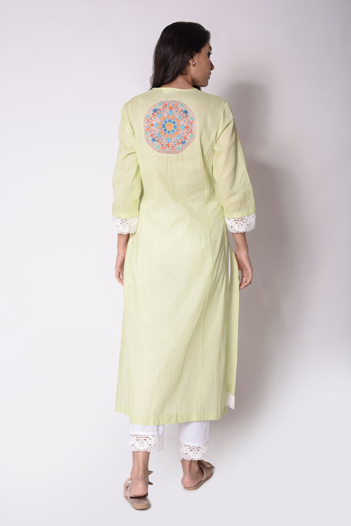 Birds of Paradise Embroidered Kurta