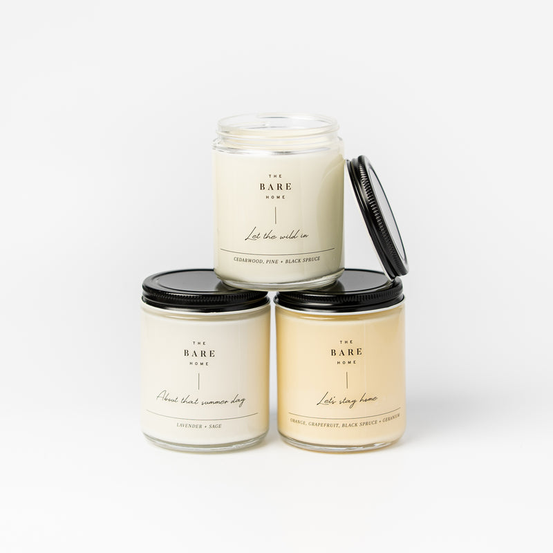 HAND POURED CANDLE TRIO