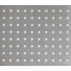 LARGE TINY X GREY SPONGE CLOTH MAT