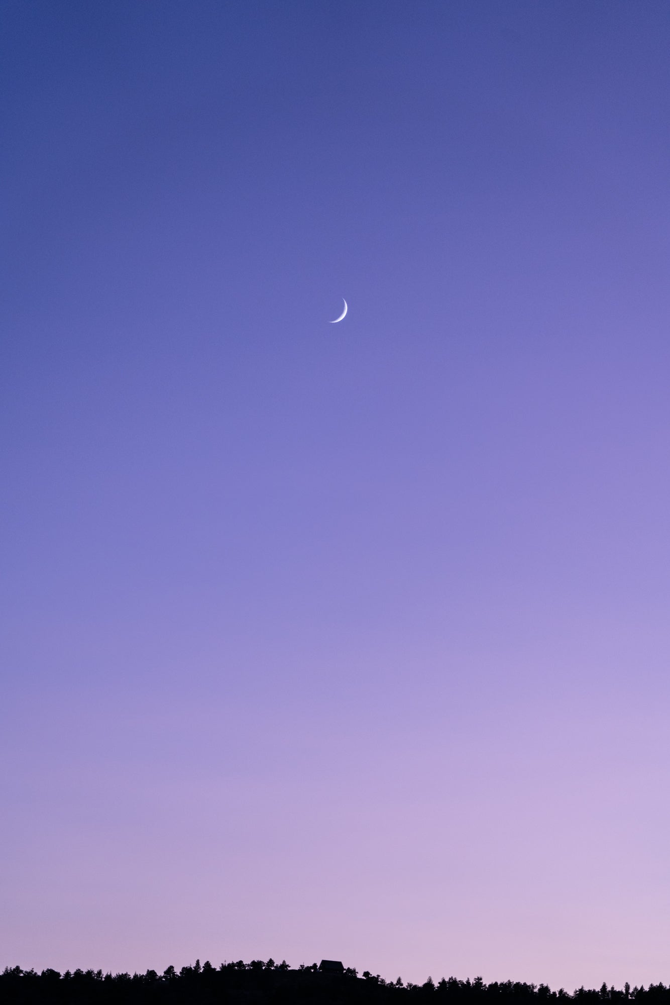 Crescent Moon with Purple Sky