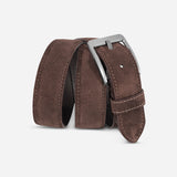 Belt suede in brown
