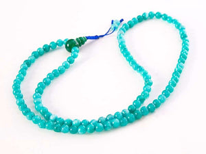 Aqua Agate Mala Necklace