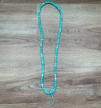 Load image into Gallery viewer, Aqua Agate Mala Necklace