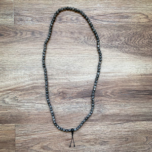 Dark Labradorite Mala Necklace