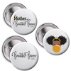 Mother of a Beautiful Brown Girl Button Set