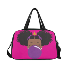 Load image into Gallery viewer, BeYOU Overnight Bag: Classic Purple Bubble