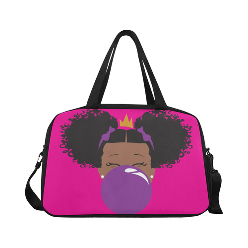 BeYOU Overnight Bag: Classic Purple Bubble