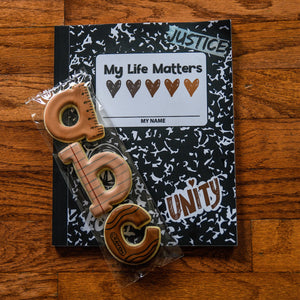 Dear Beautiful Brown Girl: My Life Matters (8x10 Composition Book)