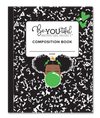 BeYOUtiful Brown Girl Composition NoteBook (8x10): GREEN