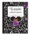 BeYOUtiful Brown Girl Composition NoteBook (8x10): PURPLE