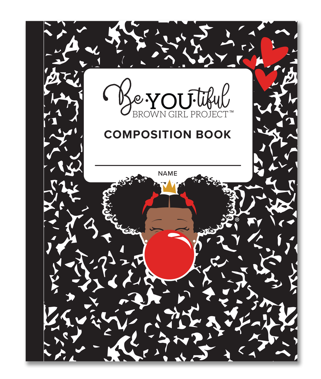 BeYOU Composition Book: RED (8x10 Composition Book)