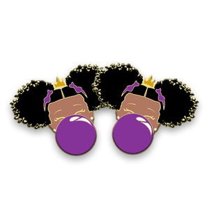 Classic BeYOU Earrings: Red, Pink, Yellow, Purple or Blue Bubble