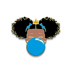 Classic Enamel Pin: Blue Bubble