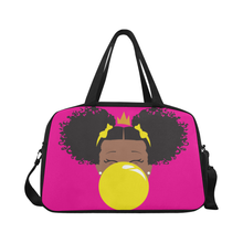 Load image into Gallery viewer, BeYOU Overnight Bag: Classic Yellow Bubble