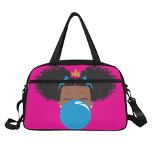 Load image into Gallery viewer, BeYOU Overnight Bag: Classic Blue Bubble