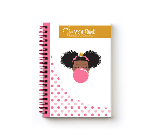Classic BeYOU Journal: Classic Pink Bubble ( 5x7 SPIRAL BOUND)