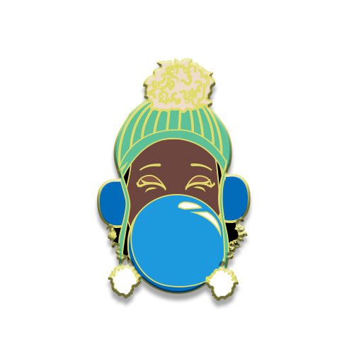 Signature Enamel Pin: Marley (Blue Bubble)