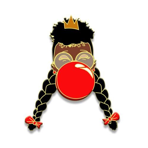 Signature Enamel Pin: Reighan (Red Bubble)