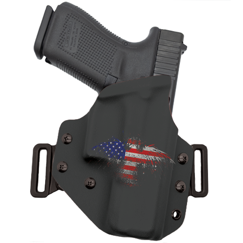 Eagle Flag Splatter OWB Holster