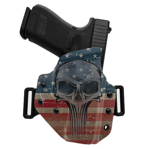 Skull Flag Color OWB Holster