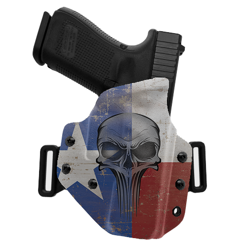 Skull Flag Texas OWB Holster