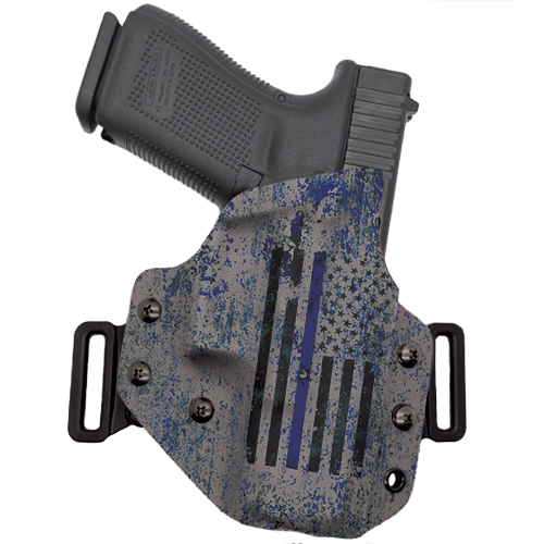Thin Blue Line Flag OWB Holster