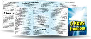 5 Keys to Freedom from Sexual Sin - 8pg mini pamphlet (b) - ( CATHOLIC English version) Bulk from $20