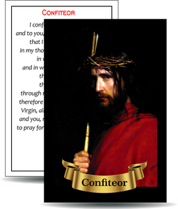 "Confiteor - Holy Card / 2 1/4""x 3 1/2"" (b)"