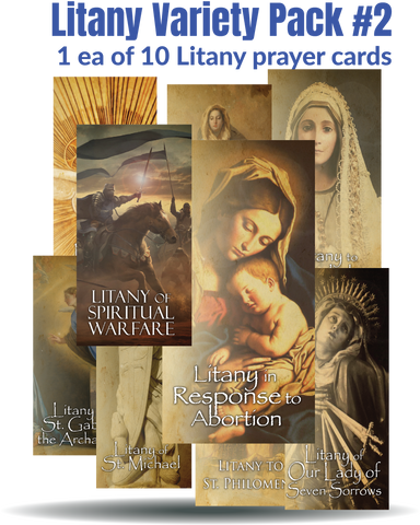 NEW! Litany Variety Pack #2 (1 ea. of all 10 cards) $20 value