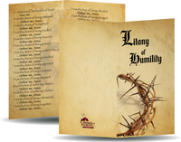 "Litany of Humility - Prayer Card / 3"" x 6"" folded  (p)"