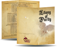 "Litany of Purity - Prayer Card / 3"" x 6"" folded  (p)"