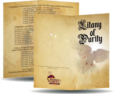 "Litany of Purity - Prayer Card / 3"" x 6"" folded  (b)"