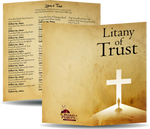 "Litany of Trust - Prayer Card / 3"" x 6"" folded  (b)"