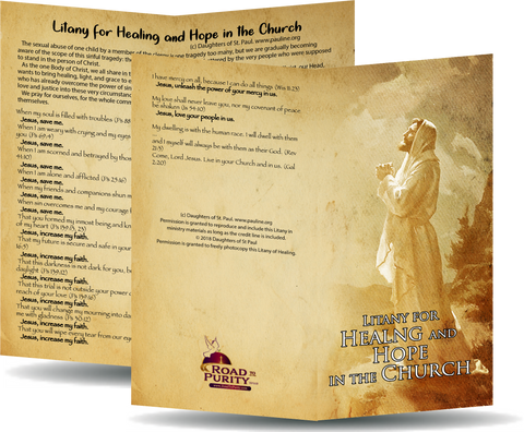 "Litany for Healing and Hope in the Church - Prayer Card / 3"" x 6"" folded"