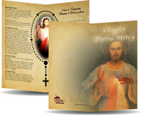 "Chaplet of Divine Mercy - Prayer Card / 3x 6"" folded  (p)"